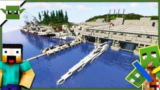 German Submarine Base - Minecraft Inspiration Series /w Keralis + DOWNLOAD