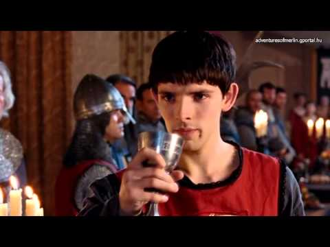 Merlin S01E04 Favourite Scenes - Merlin Drinks From The Poisoned Goblet