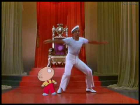 Family Guy - Stewie is dancing with Gene Kelly [HQ]