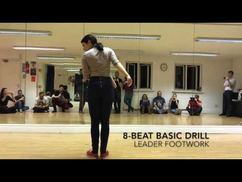 Footwork Practice Exercise for 8-Beat Lindy Hop