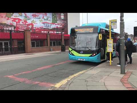 Bus 17 And 27 At Anfield Stadium
