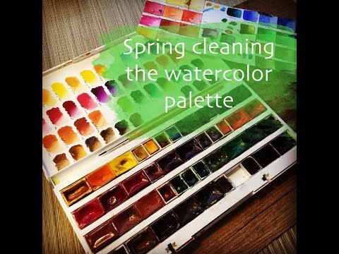 Cleaning my watercolor palette W&N and White Nights