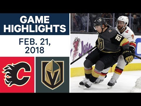 Video: NHL Game Highlights | Flames vs. Golden Knights - Feb. 21, 2018