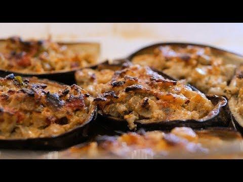 barchette di melanzane ripiene - ricetta