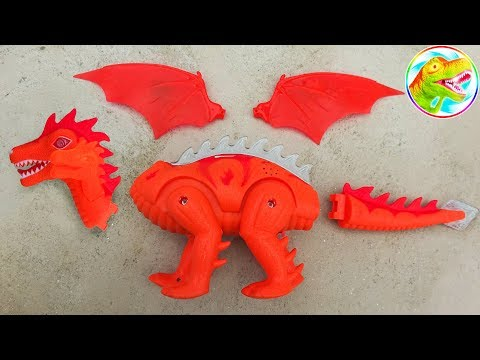 Assembly Of Toy Dinosaurs - Dinosaur Walking And Laying Eggs Toy - G243B ToyTV