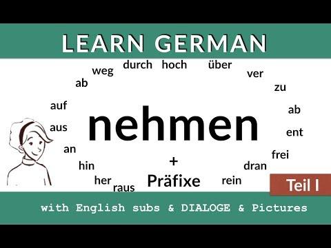 Nehmen + Präfixe: lern Deutsch B2 C1 (видео)