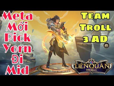 Liên Quân | Meta Cực Mới Mùa 9 - Pick Yorn Đi Mid Mới Chất - Team Troll Pick 3 AD Mà Vẫn Thắng - Thời lượng: 12:09.