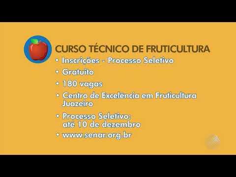 TV Bahia / Globo: SENAR abre inscrições para o Curso Técnico em Fruticultura