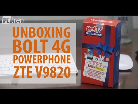 Unboxing bolt 4G powerphone ZTE V9820 PCtren.Com