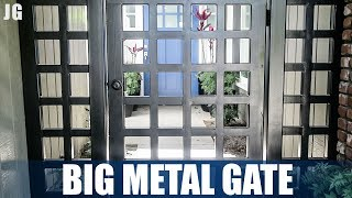 I made this huge metal gate for the front of a clients house and it involved hundreds of welds, tons of metal and even a little concrete to keep it in the ground. This metal gate must have weighed over 200lbs. Thankfully I had the help of my guys to get it in. Don't forget to Subscribe! https://goo.gl/kWECHLLAST BUILD VIDEO: https://youtu.be/wnhSxott6jMCheck out Jimbo's Metal Working videos here: http://bit.ly/20Dpj8t FOLLOW JIMBO!Facebook: https://www.facebook.com/TheOfficialJimbosGarage/Twitter: https://twitter.com/JimbosGarageInstagram: https://www.instagram.com/jimbosgarage/Where to buy Jimbos Tools:FEIN Tools Multitool: http://amzn.to/2fQ0zxwYost Vice: http://amzn.to/2cbbUq4DeWalt Mag Drill: http://amzn.to/2bPPNVzRikon Band Saw: http://amzn.to/2c21EvxEverlast Welder: http://amzn.to/2c8Dcf2Dewalt Table Saw: http://amzn.to/2cCLrm7Rikon Lathe: http://amzn.to/2bPPA4IBosch Miter Saw: http://amzn.to/2c3DMb3Ryobi Grinder: http://amzn.to/2c7afzoRyobi Drill Press: http://amzn.to/2c3DFfHRyobi Belt Sander: http://amzn.to/2cbaI62Husky Tool Box: http://amzn.to/2c3EntkEVERLAST Power Tig 210EXT: http://amzn.to/2pPBSl1EVERLAST Plasma Cutter 60S: http://amzn.to/2pyBZlOJimbo's Garage is a channel to find the how to's of welding, wood & other fun projects. Also see reviews on popular tool brands like FEIN, HILTI, DEWALT, MIKITA, RYOBI and more!