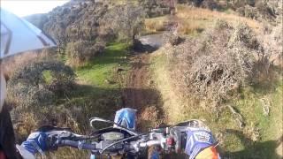 7. Husaberg TE250 Enduro trail ride Okuku Pass New Zealand 2013