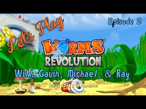 worms - Michael, Gavin, and Ray are back on the battlefield with more rope-swinging, rocket launching, team killing action in Worms Revolution for the Xbox Live Arca...