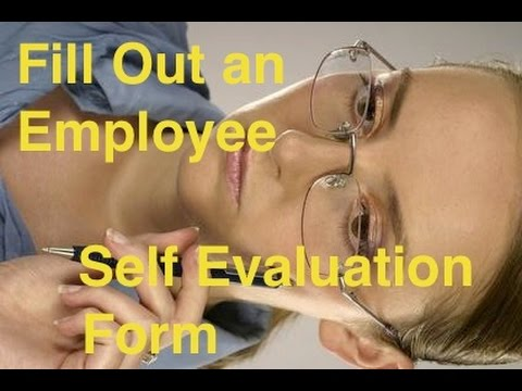 how to fill out a self evaluation