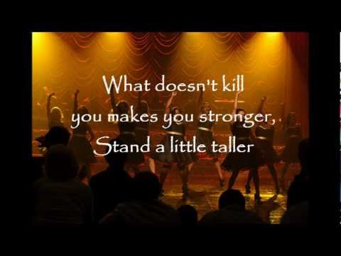 Glee Cast- Stronger (What Doesn't Kill You) with lyrics (видео)