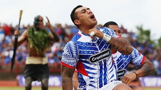 It was a momentous match for Samoa who pushed New Zealand all the way in Apia. The Siva Tau v Haka was a fitting start to such a fierce encounter. Follow Wor...