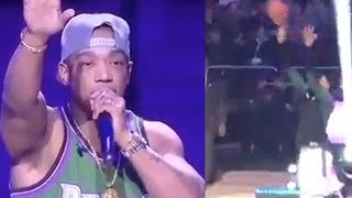 Giannis Antetokounmpo DISRESPECTS Ja Rule, Starts Shooting During His Halftime Performance!