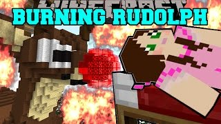 Minecraft burning rudolph the red nosed reindeer house mini game