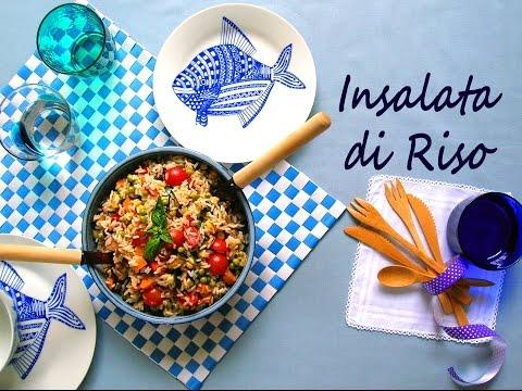 video ricetta: insalata di riso con verdure fresche!