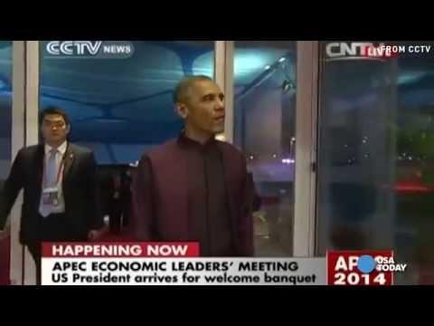 Obama mâche du chewing-gum en Chine : les internautes chinois s'insurgent