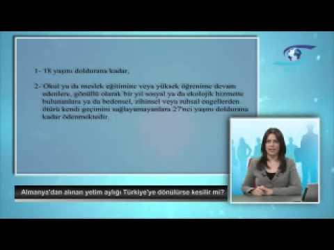 Almanya'dan alınan yetim aylığı Türkiye'ye dönülürse kesilir mi