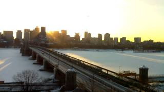 Sunrise Time-Lapse Over Longfellow Bridge - Feb 27, 2015