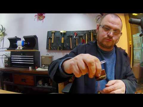 💔 White gold broken heart pendant making