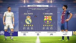FIFA 18 Real Madrid vs Barcelona 1-0 Gameplay Full Match PS4 HD