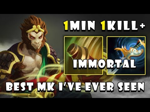 [monkey King] Best Mk I've Ever Seen 12min Rampage & 17min Gg + 22kills 0death Fullgame Dota 2 7.21d