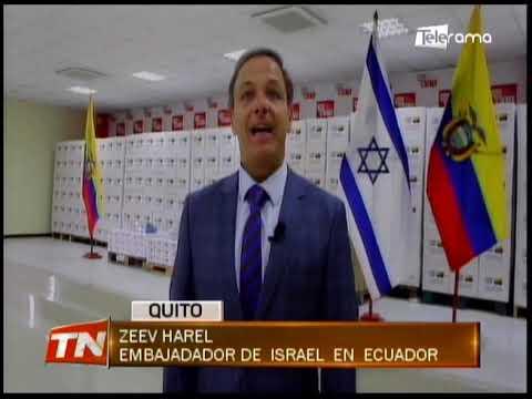 Israel entregó a Ecuador donación para combatir el covid-19
