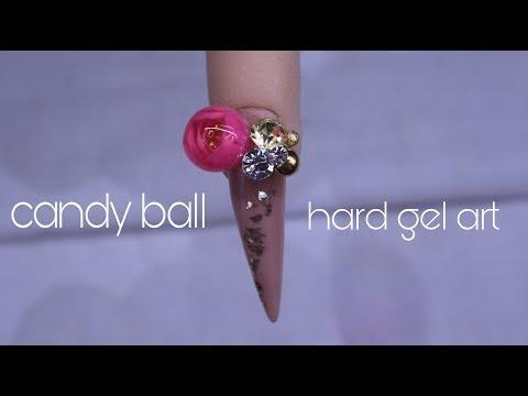 Gel nails - GEL CANDY BALL NAIL ART  IT'S SO BIG