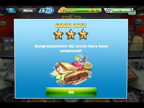 Cooking Fever Sandwich Shop Level 40