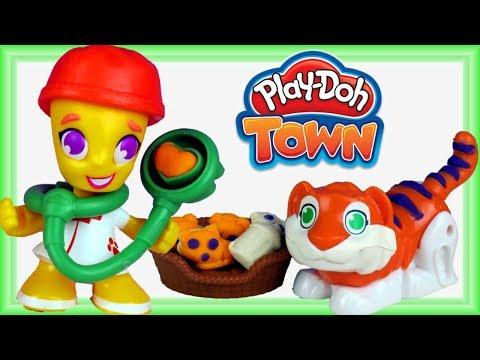 Play Doh Town & Hatchimals • Weterynarz • Chore zwierzęta !!! • bajki po polsku
