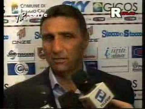 intervista all'allenatore del messina, bruno giordano che si arrabbia!