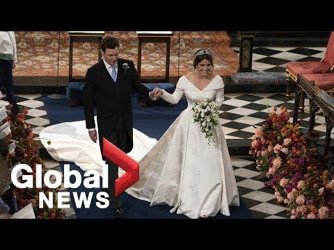 Princess Eugenie, Jack Brooksbank depart after royal wedding