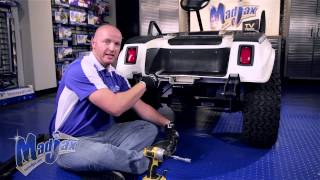 How to install a Madjax® Trailer Hitch on a Club Car® DS® golf cart. Visit us online at http://mymadjax.com.