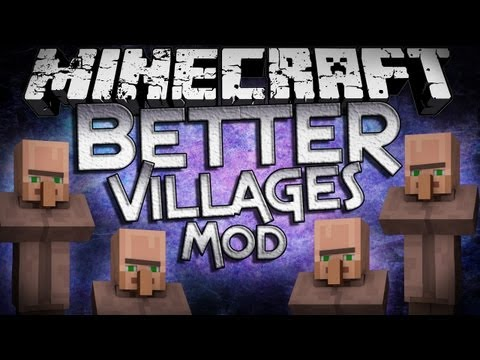 Minecraft Mod Showcase: Better Villages Mod - Cleaner and More Common Villages!