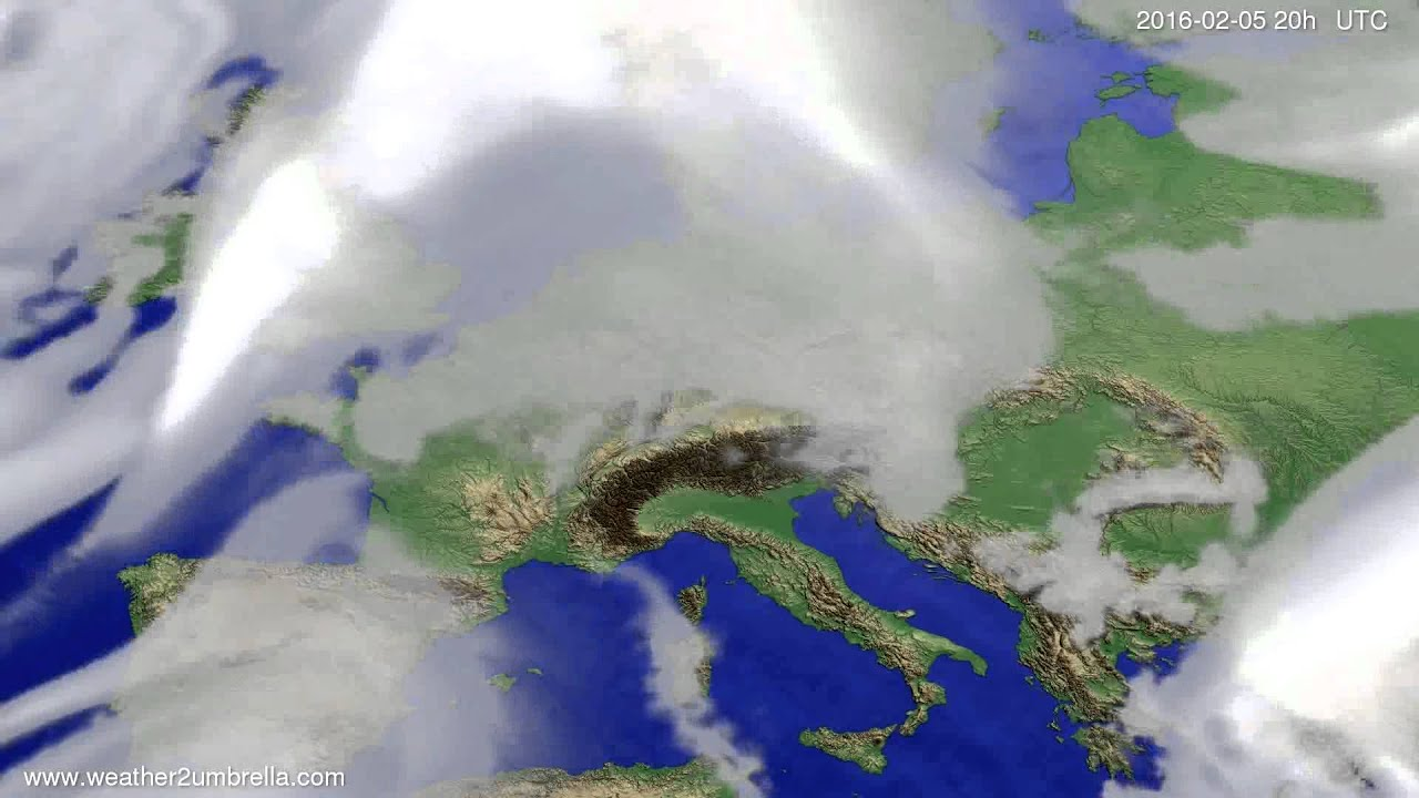 Cloud forecast Europe 2016-02-03