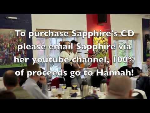 Sapphire 8yrs singing for Hannah The Climb