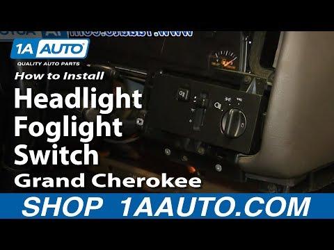 How To Install Replace Headlight Foglight Switch 1994-98 Jeep Grand Cherokee