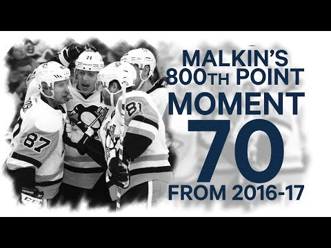 Video: No. 70/100: Malkin scores for 800th career point
