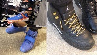 I GOT THE HEAT! Air Jordan 12 Master's! Custom Gold Laces! SneakerHead Shoe Vlog Ep.25