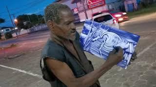 Niesamowicie utalentowany uliczny artysta.