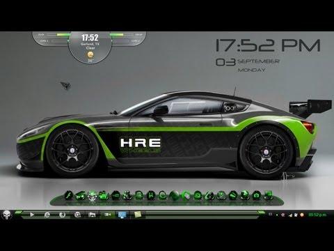 Temas para windows 7 - Bien amigos aquí les dejo este tema HUD verde para windows 7 con sus wallpaper HD y sus muy bien logrados detalles con pack de iconos para su combinación sea...