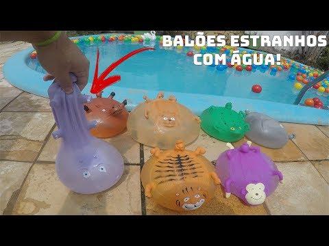ENCHENDO BALÕES DE ANIMAIS ESTRANHOS COM ÁGUA (EFEITO MUITO LEGAL)