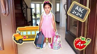 Video ELLE'S FIRST DAY OF SCHOOL!!! (THE CUTEST BABY STUDENT) MP3, 3GP, MP4, WEBM, AVI, FLV September 2018