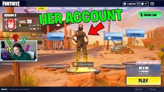 I USED HER ACCOUNT to SURPRISE HER with V BUCKS.. (Fortnite Battle Royale)