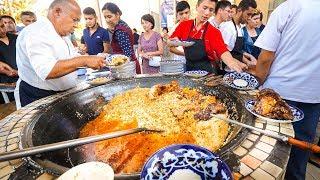 Video Street Food in Uzbekistan - 1,500 KG. of RICE PLOV (Pilau) + Market Tour in Tashkent! MP3, 3GP, MP4, WEBM, AVI, FLV Juli 2019