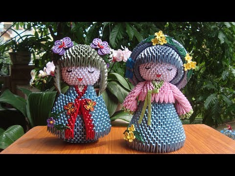 3D Origami Korean Doll | Paper Korean Doll Handmade Decoration