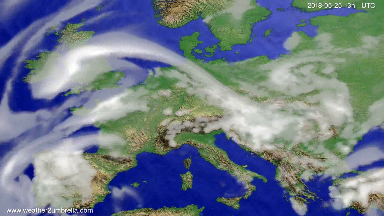 Cloud forecast Europe 2018-05-22