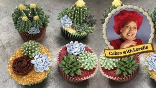 How to Make Buttercream Succulents - Delicious Edible Cactus